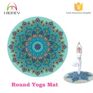 Natural Rubber Yoga Mat, Easy Carry Travel Round Yoga Mat pictures & photos