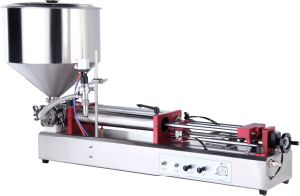 Self-Suction Pneumatic Horizontal Ointment and Liquid Filling Machine pictures & photos