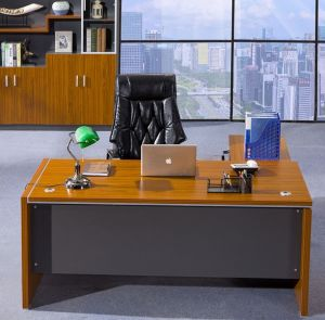 Dark Gry Modesty Panel Oak Desk Top Office Table (HX-NCD193) pictures & photos