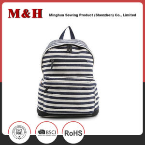 Black and White Stripes Travel Leisure Backpack pictures & photos