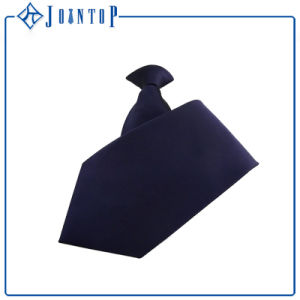 Hot Selling Solid Color Uniform Polyester Clip on Tie/Zipper Necktie pictures & photos