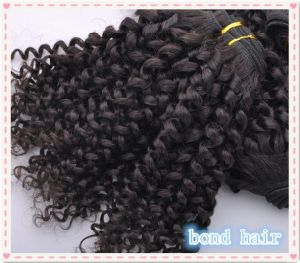 Natual Color Afro Curl Hair Extension/ Virgin Brazilian Kinky Curly Hair Weaving pictures & photos