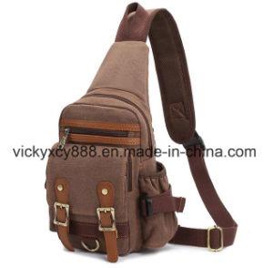 Men Fashion Leisure Single Shoulder Canvas Crossbody Chest Bag (CY3708) pictures & photos
