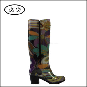 High Upper Rain PVC Boot for Women (BX-048) pictures & photos