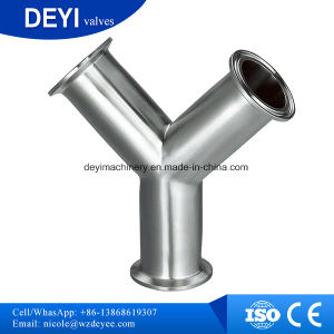 Stainless Steel Sanitary Tri Clamp Y Type Tee pictures & photos