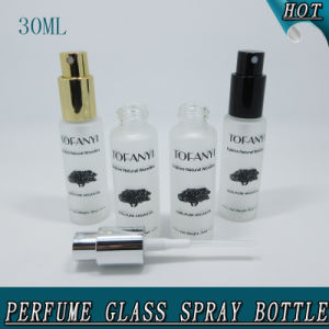 1oz 30ml Cylinder Frosted Cosmetic Pump Spray Perfume Glass Bottle pictures & photos