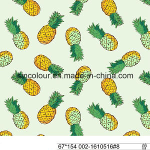 Pineapple Printing Knitted Fabric 80%Polyamide 20%Elastane Fabric pictures & photos