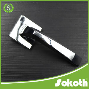 PVD Finish Gold Plated Zinc Alloy Door Handle pictures & photos