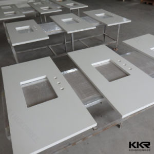 Solid Surface Customized Bathroom Vanity Tops for Hotel Furniture pictures & photos