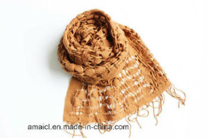 100% Wool Dyed Woven Checked Scarf (AHY70007589) pictures & photos