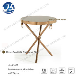 Factory Supply Classical Style Bronze Metal Round Side Table pictures & photos