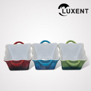 Mobile Ceramic Bakeware, Colored Wavy Shape Cake Tins pictures & photos