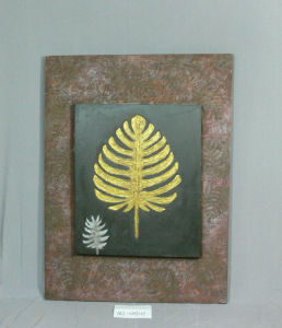 The Golden Fern Leaf Pattern Home Furnishing Canvas Paintings