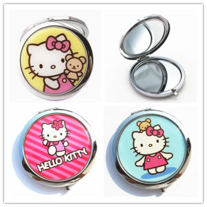 Souvenirs Customized Round Portable Cosmetic Pocket Mirror