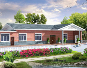 Prefab Steel Structure Cottage with Swimming Pool and Garage pictures & photos