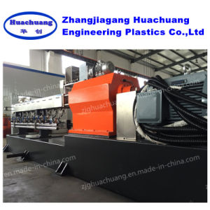 Parallel Twin Screw Pet Plastic Granulator with Noodles Cutter pictures & photos