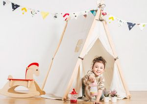 Cotton Canvas Wooden Pole Kids Indian Playing Teepee pictures & photos