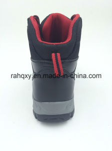 Shiny Smooth Leather Waterproof Penetration Resistant Outdoor Safety Boots (16102) pictures & photos