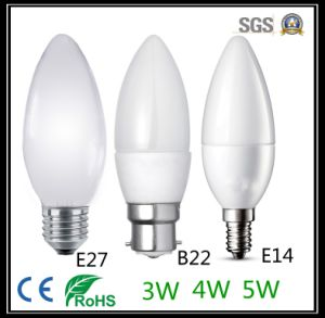 Low Cost High Lumens LED Bulb Candle Shape pictures & photos