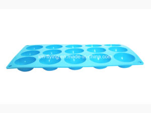 Food Grade 15 Cavities Half Ball Shape Silicone Ice Trays with Engraving Logo pictures & photos