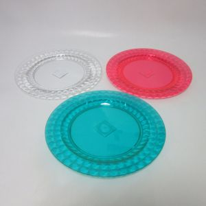 PS 25cm Round Plate Color Plastic Plate Tableware pictures & photos