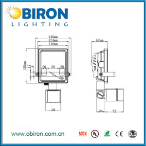10W-50W Wall Mounted LED Sensor Floodlight pictures & photos