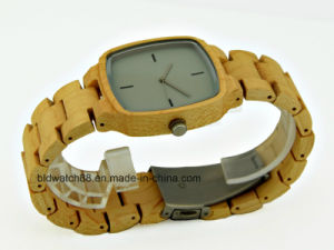Waterproof Wood Watch Small Band Wooden Watches for Womens Square pictures & photos