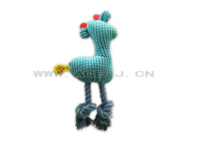 Cotton Rope Animal Sound Plush Dog Toy Blue Chicken Shaped Pet Toy pictures & photos