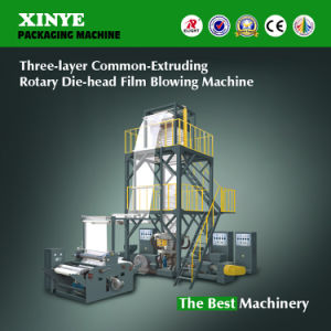 HDPE LDPE Three Layer Co-Extruding Rotary Die Film Machine pictures & photos