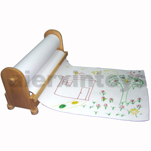 Wooden Roll Paper Stand for Drawing (80917) pictures & photos