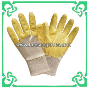 Cheap Nitrile Dipped Gloves / 3/4 Dipped (GS-301A)