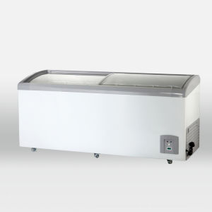 Curved Glass Door Chest Freezer (SDSC-418Y) pictures & photos