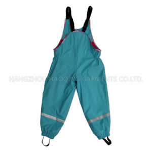 Blue Solid PU Rain Pants pictures & photos