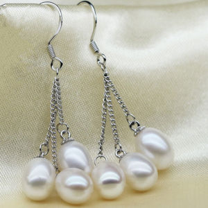 Fashion Cultured Drop Pearl Earrings pictures & photos