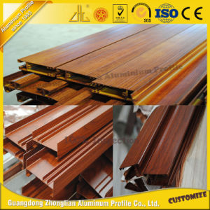 Wood Grain Aluminum Extrusion for Doors and Windows pictures & photos