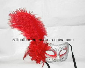 Muliti-Color Personal Decoration Halloween Turkey/Ostrich Venice Feather Mask pictures & photos