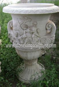 Stone Carving Flowerpot for Home and Garden pictures & photos