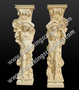 Hand Carved Marble Column for Decoration (sk-3377) pictures & photos