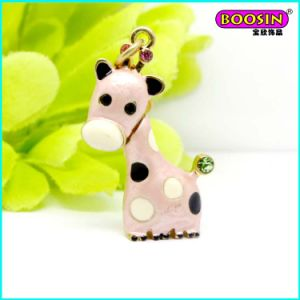 Lovely Custom Alloy Enamel Deer Necklace Jewellery Charm pictures & photos