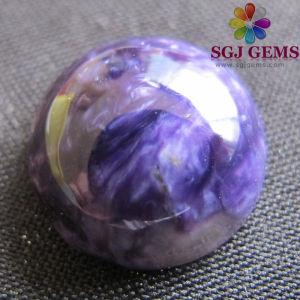 Natural Semi Precious Stone-Grade AAA Russian Charoite Round Calibrated Cabochon