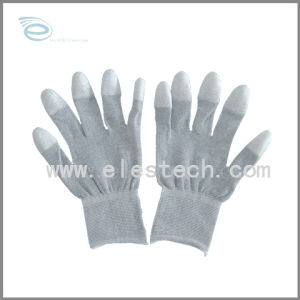 ESD Nylon Fingertip PU Coated Glove (ES1 2105)