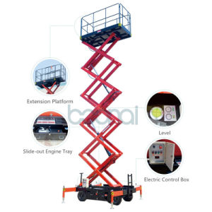 2016 Brand-New 5m Mobile Scissor Lift with Forklift Pockets pictures & photos