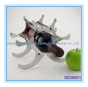 Laser Cutting Metal Steel Wine Holder with Mirror Polishing pictures & photos
