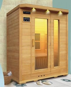 Wood Steam Sauna with Infrared Sauna Control Panel pictures & photos