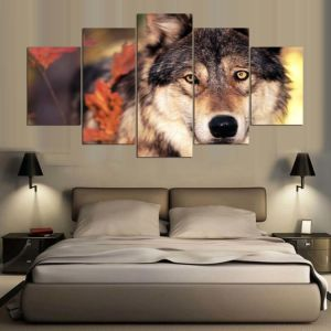 HD Printed Modular Painting Animal Forest Wolf Canvas Print Art Modern Home Decor Wall Art Picture for Living Room Mc-154 pictures & photos