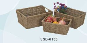 Baskets Made From Seagrass in Natural Color (SSD-6133)