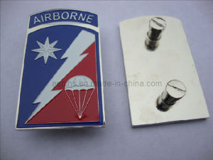 Factory Price Airborne Enamel Metal Emblem with Screw Attachment (badge-073) pictures & photos