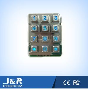 Squared Phone Keypad with Backlight, Rugged Phone Keypad, Metal Keyboard pictures & photos