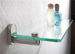 High Quality Bathroom Hardware Stainless Steel Glass Shelf (1205) pictures & photos