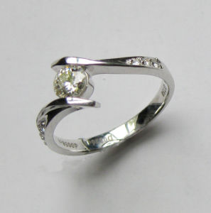 18k Gold Diamond Ring (H2050)
